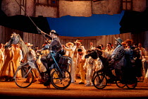 DON QUIXOTE by Massenet conductor: Emmanuel Joel set design: John Gunter costumes: Deirdre Clancy lighting: Simon Tapping choreography: Lindsay Dolan director: Ian Judge <br> front, l-r: Richard V...