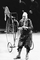 Paul Scofield (Don Quixote de la Mancha) in DON QUIXOTE by Keith Dewhurst, after Cervantes at the Olivier Theatre, National Theatre (NT), London SE1 18/06/1982  set design: William Dudley costumes...
