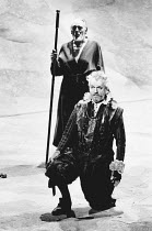 Paul Scofield (Don Quixote de la Mancha), (rear) J G Devlin (Juan Haldudo of Quintanar) in DON QUIXOTE by Keith Dewhurst, after Cervantes at the Olivier Theatre, National Theatre (NT), London SE1 18/0...