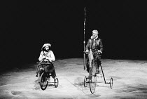 l-r: Tony Haygarth (Sancho Panza), Paul Scofield (Don Quixote de la Mancha) in DON QUIXOTE by Keith Dewhurst, after Cervantes at the Olivier Theatre, National Theatre (NT), London SE1 18/06/1982  ...