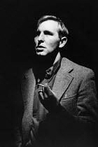 Mark Wing-Davey (W.H. Auden) in THE DOUBLE MAN by Ed Thomason at the Bush Theatre, London W12 13/09/1982  design: Grant Hicks director: Simon Stokes