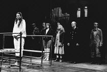 left: Jenny Agutter (Grace Gross) centre, l-r: Lesley Sharp (Alice), Brenda Peters (Mrs May), David Shaw-Parker (Gilbert) in THE BODY by Nick Darke at the Royal Shakespeare Company (RSC), The Pit, Bar...