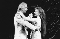 Kevin Colson (George Dillingham), Diana Morrison (Jenny Dillingham) in ASPECTS OF LOVE at the Prince of Wales Theatre, London W1 17/04/1989  music & book by Andrew Lloyd Webber lyrics: Don Black &...