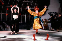 Timothy Spall (Monsieur Jourdain) in LE BOURGEOIS GENTILHOMME by Moliere at the Lyttelton Theatre, National Theatre (NT), London SE1 05/05/1992  in a new version by Nick Dear music by Jean-Baptist...