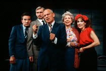 l-r: Henry Goodman, Stanley Lebor, Steven Berkoff, Thelma Ruby and Anita Dobson in KVETCH by Steven Berkoff at the Garrick Theatre, London WC2 08/10/1991  design: Silvia Jahnsons director: Steven...