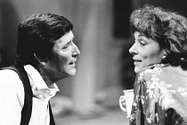 Tom Bell (Tom Fearon), Lynn Farleigh (Mary Fearon) in THE MAN WHO FELL IN LOVE WITH HIS WIFE by Ted Whitehead at the Lyric Hammersmith Studio, London W6 02/1984  design: Poppy Mitchell lighting: D...