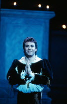 Roberto Alagna (Romeo) in ROMEO ET JULIETTE at The Royal Opera House, Covent Garden, London WC2 28/10/1994  music: Charles-Francois Gounod libretto: Jules Barbier & Michel Care after Shakespeare c...