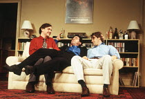 l-r: David Bamber (Guy), John Sessions (Daniel), Anthony Calf (John) in MY NIGHT WITH REG by Kevin Elyot at the Criterion Theatre, London SW1 21/11/1994  design: William Dudley lighting: Jon Linst...