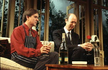 l-r: David Bamber (Guy), Roger Frost (Bernie) in MY NIGHT WITH REG by Kevin Elyot at the Criterion Theatre, London SW1 21/11/1994  design: William Dudley lighting: Jon Linstrum director: Roger Mic...