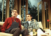 l-r: David Bamber (Guy), Joe Duttine (Eric) in MY NIGHT WITH REG by Kevin Elyot at the Criterion Theatre, London SW1 21/11/1994  design: William Dudley lighting: Jon Linstrum director: Roger Miche...