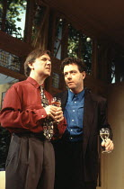 l-r: David Bamber (Guy), John Sessions (Daniel) in MY NIGHT WITH REG by Kevin Elyot at the Criterion Theatre, London SW1 21/11/1994  design: William Dudley lighting: Jon Linstrum director: Roger M...