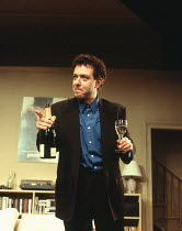 John Sessions (Daniel) in MY NIGHT WITH REG by Kevin Elyot at the Criterion Theatre, London SW1 21/11/1994  design: William Dudley lighting: Jon Linstrum director: Roger Michell