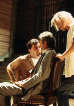 l-r: Jon Cryer (Gitlo), Paul Chapman (Morely), Ben Daniels (Tiger) in 900 ONEONTA at the Old Vic, London SE1 18/07/1994  written & directed by David Beaird design: Tim Shortall lighting: Howard Ha...