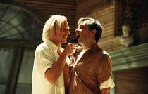 l-r: Ben Daniels (Tiger), Jon Cryer (Gitlo) in 900 ONEONTA at the Old Vic, London SE1 18/07/1994  written & directed by David Beaird design: Tim Shortall lighting: Howard Harrison
