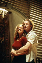 Indra Ove (Palace), Douglas Henshall (Tiger) in 900 ONEONTA at the Lyric Hammersmith Studio, London W6 04/04/1994  written & directed by David Beaird design: Tim Shortall lighting: Howard Harrison...