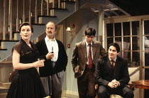 l-r: Brenda Blethyn (Alma), Charles Kay (Victor Keene), Paul Reynolds (Aubrey), Gavin Abbott (Felix) in THE BED BEFORE YESTERDAY by Ben Travers at the Almeida Theatre, London N1 17/05/1994  design...