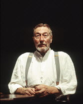John Neville (Edgar) in THE DANCE OF DEATH by Strindberg at the Almeida Theatre, London N1 17/01/1995  translated by Michael Meyer design: Patrick Watkinson lighting: Chris Clay director: Peter St...