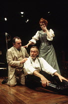 l-r: Anthony O'Donnell (Kurt), John Neville (Edgar), Gemma Jones (Alice) in THE DANCE OF DEATH by Strindberg at the Almeida Theatre, London N1 17/01/1995  translated by Michael Meyer design: Patri...