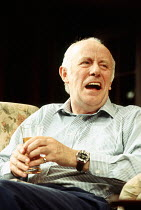 Richard Wilson (Stephen Febble) in THE WEEKEND by Michael Palin at the Strand Theatre, London WC2 26/04/1994  an Yvonne Arnaud Theatre, Guildford production design: Eileen Diss lighting: Leonard T...