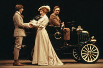 l-r: Nigel Havers (Octavius Robinson), Susan Hampshire (Ann Whitefield), Richard Pasco (John Tanner) in MAN AND SUPERMAN by Bernard Shaw at the Savoy Theatre, London WC2 19/08/1977  a Royal Shakes...