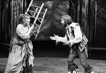 Susan Hampshire (Katharina), Nicky Henson (Petruchio) in THE TAMING OF THE SHREW by Shakespeare at the Shaw Theatre, London NW1 07/10/1974  a Dolphin Theatre Company production music: Stephen Oliv...