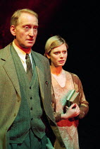 Charles Dance (Halder), Emilia Fox (Anne) in GOOD by C P Taylor at the Donmar Warehouse, London WC2 23/03/1999  design: Christopher Oram lighting: Hartley T A Kemp director: Michael Grandage