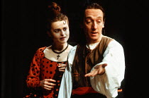 Helena Bonham Carter (Rosine), Lee Cornes (Figaro) in THE MARRIAGE OF FIGARO by Beaumarchais at the Palace Theatre Watford 11/03/1992  design: Bruno Santini lighting: Christopher Toulmin director:...