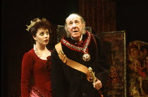 Sarah Brightman (Rose Trelawny), Michael Hordern (Sir William Gower) in TRELAWNY OF THE WELLS by Arthur Wing Pinero at the Comedy Theatre, London SW1 07/12/1992  music: Donald Fraser design: Paul...