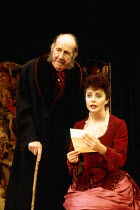Michael Hordern (Sir William Gower), Sarah Brightman (Rose Trelawny) in TRELAWNY OF THE WELLS by Arthur Wing Pinero at the Comedy Theatre, London SW1 07/12/1992  music: Donald Fraser design: Paul...