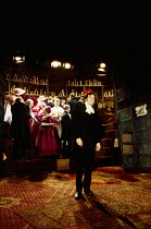 rear centre: Jemma Redgrave (Sophie) front: Colin Firth (Chatsky) in CHATSKY by Alexander Griboyedov at the Almeida Theatre, London N1 06/03/1993  design: Tim Hatley director: Jonathan Kent