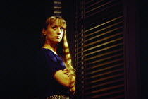 Lia Williams (Carol) in OLEANNA by David Mamet at the Royal Court Theatre, London SW1 01/07/1993  design: Eileen Diss lighting: Gerry Jenkinson director: Harold Pinter
