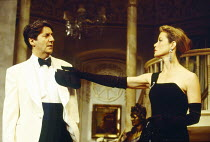 Tom Conti (Gary Essendine), Jenny Seagrove (Joanna Lyppiatt) in PRESENT LAUGHTER by Noel Coward at the Globe Theatre, London W1 23/06/1993  design: Terry Parsons lighting: Mark Pritchard director:...