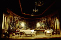 full interior set for RELATIVE VALUES by Noel Coward at the Savoy Theatre, London WC2 08/11/1993  a Chichester Festival Theatre production design: Rob Howell lighting: Mark Henderson director: Tim...