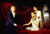 l-r: Christina Greatrex (Flora), Janie Dee (Violet), Diana Kent (Rose) in PARALLEL VISION by Stephanie Crawford at the King's Head Theatre, London N1 08/11/1993  music: Simon Brint & Simon Wallace...