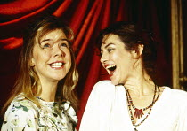 l-r: Janie Dee (Violet), Diana Kent (Rose) in PARALLEL VISION by Stephanie Crawford at the King's Head Theatre, London N1 08/11/1993  music: Simon Brint & Simon Wallace design: Demetra Hersey ligh...