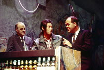 l-r: Tony Guilfoyle (Costello), Francois Chau (Greg), Richard Cordery (Buddy) in THE L. A. PLAYS by Han Ong at the Almeida Theatre, London N1 09/11/1993  design: Julian McGowan lighting: Rick Fish...
