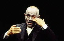 Steven Berkoff in TELL TALE HEART by Edgar Allan Poe  part of the ONE MAN trilogy of plays adapted, directed and performed by Steven Berkoff Garrick Theatre, London WC2 15/11/1993
