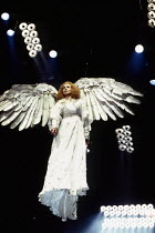 Nancy Crane (The Angel) in PERESTROIKA, part 2 of ANGELS IN AMERICA by Tony Kushner at the Cottesloe Theatre, National Theatre (NT), London SE1 20/11/1993  music: Paddy Cunneen design: Nick Ormero...