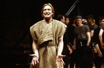 Charles Dance (Coriolanus) in CORIOLANUS by Shakespeare at the Royal Shakespeare Company (RSC), Royal Shakespeare Theatre, Stratford-upon-Avon, England 05/12/1989  design: Christopher Morley  figh...