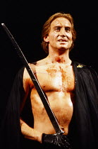 Charles Dance (Coriolanus) in CORIOLANUS by Shakespeare at the Royal Shakespeare Company (RSC), Royal Shakespeare Theatre, Stratford-upon-Avon, England 05/12/1989  design: Christopher Morley fight...