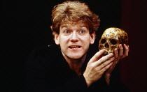 Kenneth Branagh (Hamlet) in HAMLET by Shakespeare at the Phoenix Theatre, London 07/09/1988  a Renaissance Theatre Company production design: Jenny Tiramani lighting: Brian Harris choreography: Ju...