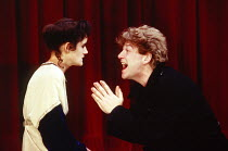 Sophie Thompson (Ophelia), Kenneth Branagh (Hamlet) in HAMLET by Shakespeare at the Phoenix Theatre, London 07/09/1988  a Renaissance Theatre Company production design: Jenny Tiramani lighting: Br...
