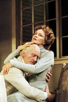 Charles Dance (James Tyrone), Jessica Lange (Mary Tyrone) in LONG DAY'S JOURNEY INTO NIGHT by Eugene O'Neill at the Lyric Theatre, London W1 21/11/2000  design: Simon Higlett lighting: Paul Pyant...