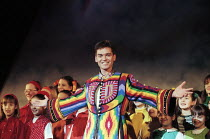 Phillip Schofield (Joseph) in JOSEPH AND THE AMAZING TECHNICOLOR DREAMCOAT at Labatt's Apollo Hammersmith London W6  27/02/1996 music: Andrew Lloyd Webber  lyrics: Tim Rice  design: Mark Thompson  li...