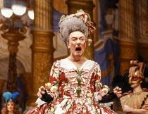 Robert Stephens (Euphoria) in CINDERELLA at at the Lyttelton Theatre, National Theatre (NT) London 15/12/1983  set design: William Dudley costumes: Deirdre Clancy lighting: William Bundy choreogra...