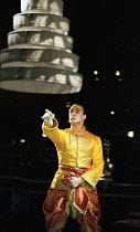 Irek Mukhamedov (The King of Siam) in THE KING AND I at the Freemasons Hall, London WC2 18/05/1995  music: Richard Rodgers book & lyrics: Oscar Hammerstein II set design: Alison Cartledge costumes...