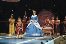 Liz Robertson (Anna Leonowens) in THE KING AND I at the Freemasons Hall, London WC2 18/05/1995  music: Richard Rodgers book & lyrics: Oscar Hammerstein II set design: Alison Cartledge costumes: Ch...