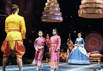left: Irek Mukhamedov (The King of Siam) right: Liz Robertson (Anna Leonowens) in THE KING AND I at the Freemasons Hall, London WC2 18/05/1995  music: Richard Rodgers book & lyrics: Oscar Hammerst...