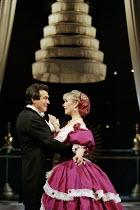 Philip York (Sir Edward Ramsay), Liz Robertson (Anna Leonowens) in THE KING AND I at the Freemasons Hall, London WC2 18/05/1995  music: Richard Rodgers book & lyrics: Oscar Hammerstein II set desi...