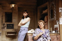 l-r: Janine Duvitski (Annelle), Stephanie Cole (Clairee) in STEEL MAGNOLIAS by Robert Harling at the Lyric Theatre, London W1 07/03/1989  set design: Eileen Diss costumes: Lindy Hemming lighting:...